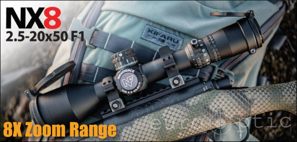 Nightforce new NX8 riflescope scope 8X magnification light weight EuroOptic