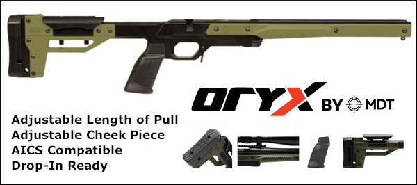 2019 ORYX chassis PRS tactical MDT 6.5 Guys chassis system rifles