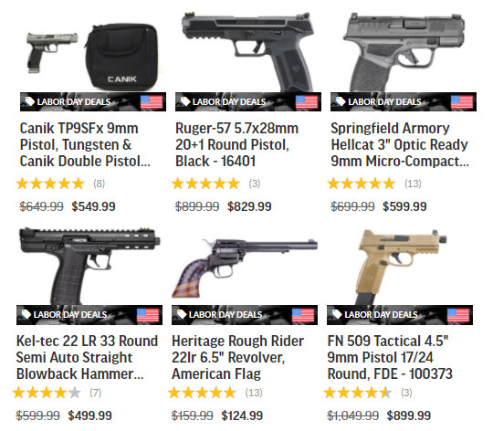 palmetto state armory labor day sale ammo AR15 rifles handguns pistols