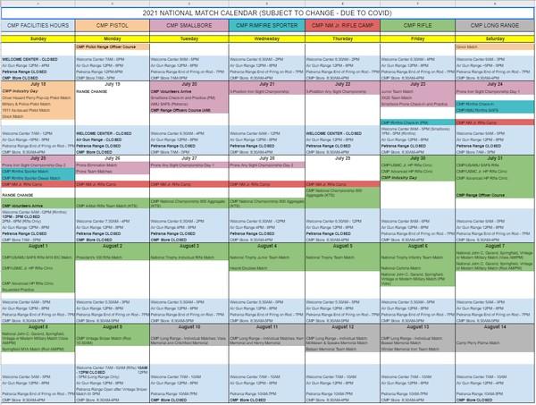 National Matches Calendar