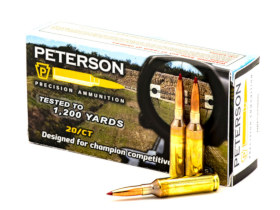 6mm Creedmoor Peterson cartridge ammo Ammunition