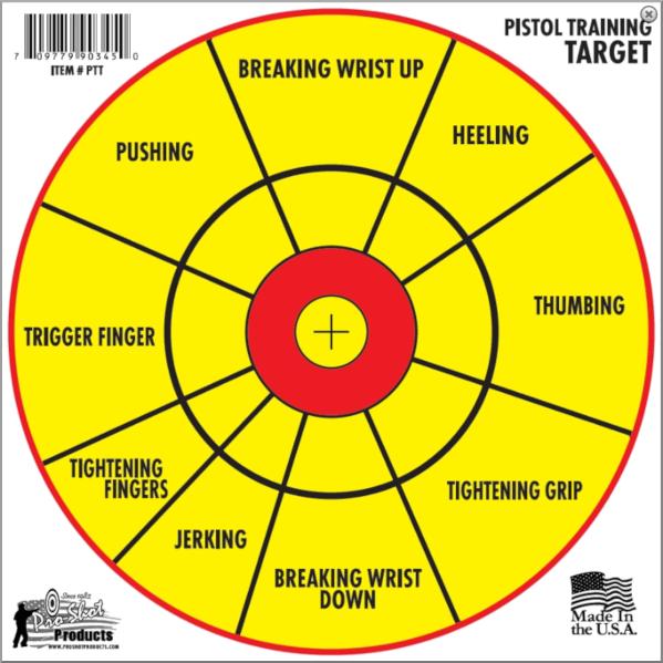 pistol training target