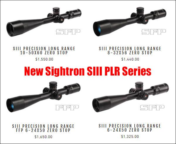 Sightron optics Precsion long range PLR SFP FFP scopes zero stop illuminated riflescope