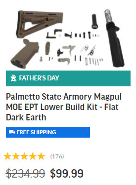 Lower Kit Palmetto Armory Fathers Day sale 2021