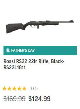 Palmetto Rossi RS22 .22 LR Rimfire Fathers Day sale 2020