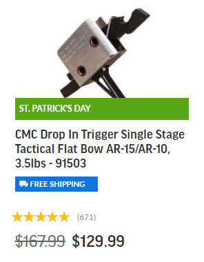 Palmetto Armory St. Patrick's Day Sale AR 15 pistol rifle lower upper