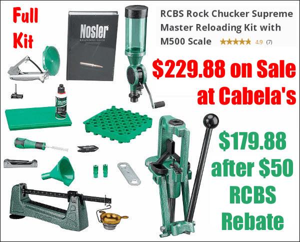 Rcbs Reloading Rockchucker Master Kit