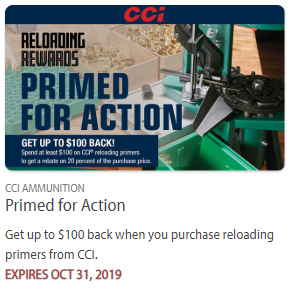 CCI primers rebate