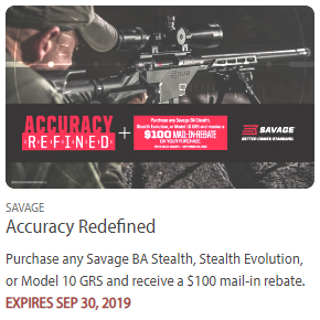 savage rifle rebate