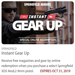 springfiled pistol magazine rebate