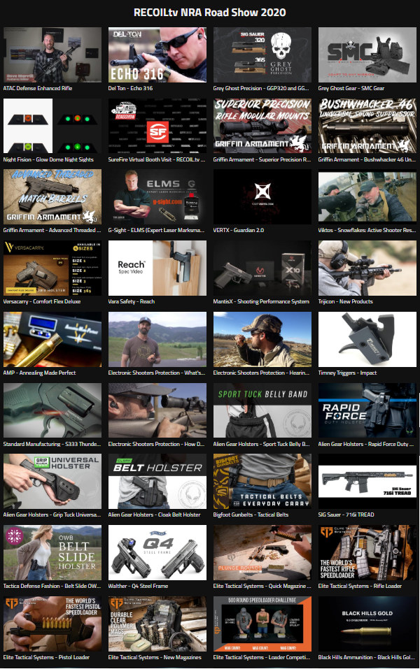 Recoil Magazine 2020 NRA Show convention product video showcase