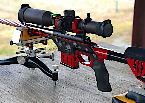 Savage 10 BA Stealth Red black custom 6.5 Creedmoor