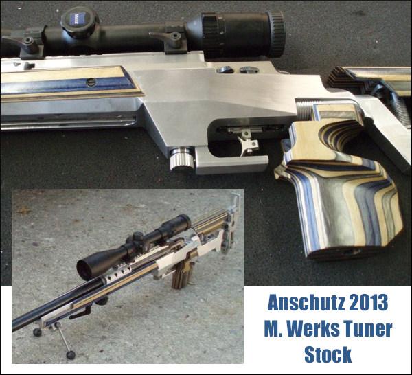 Anschutz 2013 .22 LR M. Werks rimfire prone rifle