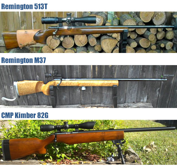 Remington 513T M37 82G CMP Kimber .22 LR rimfire prone rifleCZ 455 McCrees Precision tactical rimfire