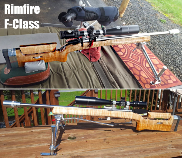 Stiller Holeshot 2500X smallbore F-Class Cerus stock.22 LR rimfire prone rifle