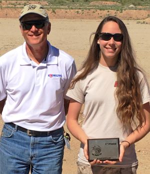 Arizona Junior Shooter Madison Rovelli Lady Scorpion black belt pilot