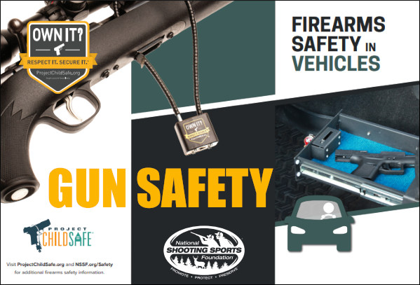 Firearms gun safety safe storage transport vehicle car truck NSSF