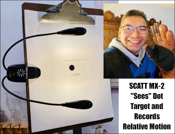 SCATT MX-02 rifle training optics trace tracking system