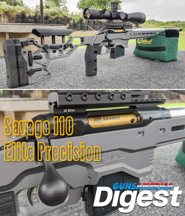 Savage Arms model 110 Elite Precision rifle PRS NRL ELR tactical modular rifle