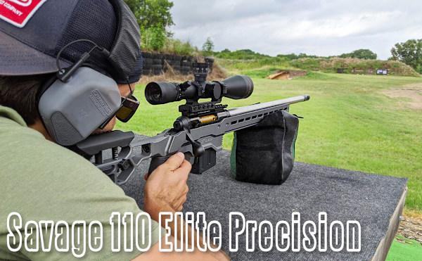 Savage Arms model 110 Elite Precision rifle PRS NRL ELR tactical modular rifle