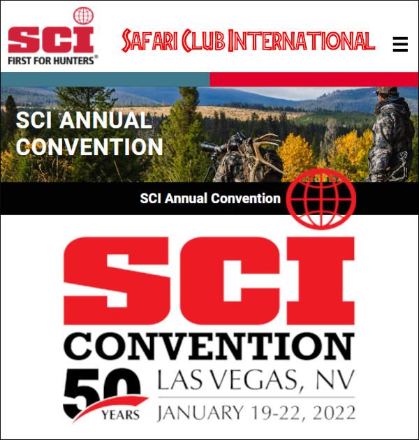 SCI Safari Club International 2022 Convention Mandalay Bay hotel las vegas