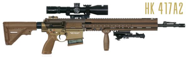 Heckler Koch HK SDBR squad designated Marksman Rifle HK417 G28 U.S. Army