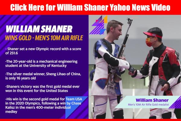 William Shaner 10m Air Rifle NBC Yahoo News 2021 Tokyo Olympics Gold Medal shooting