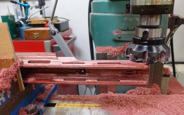 Shiraz Balolia Grizzly F-Class Laminated stock .300 WSM competition rifle gunsmithing gunstock lathe mill