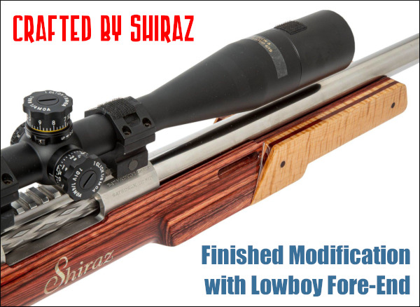 Shiraz Balolia Grizzly F-Class Laminated stock .300 WSM competition rifle gunsmithing gunstock lathe mill
