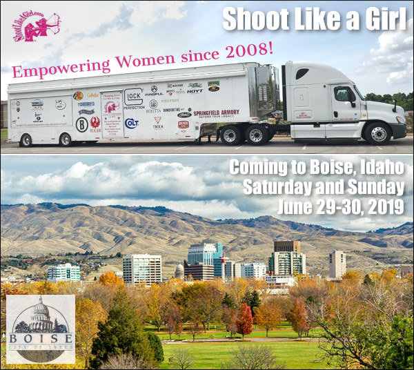 Shoot like Girl Boise Idaho Trailer mobile range archery hunting pistol training