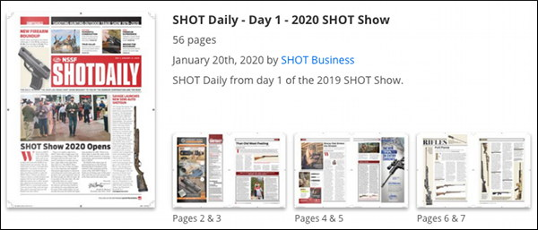 SHOT Show Daily Day One