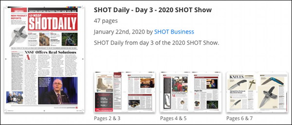 SHOT Show Daily Day Two