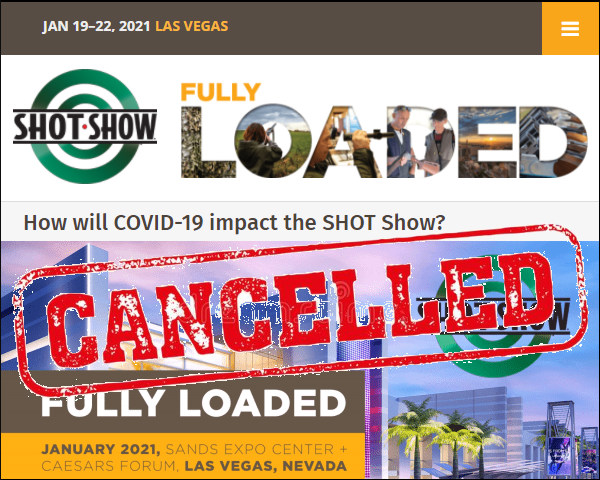 SHOT Show 2021 Cancelled canceled cancellation