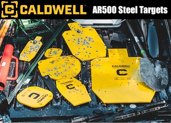 Caldwell AR500 AR-500 Steel Targets hardened silhouette