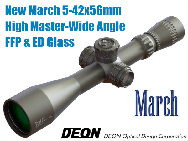March optics scope Wide angle FFP High Master ED Glass