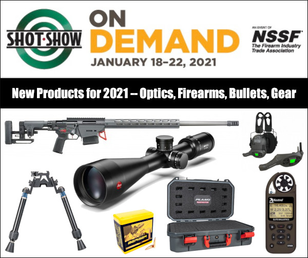 SHOT Show 2021 on demand scopes bullets rifles kestrel targets