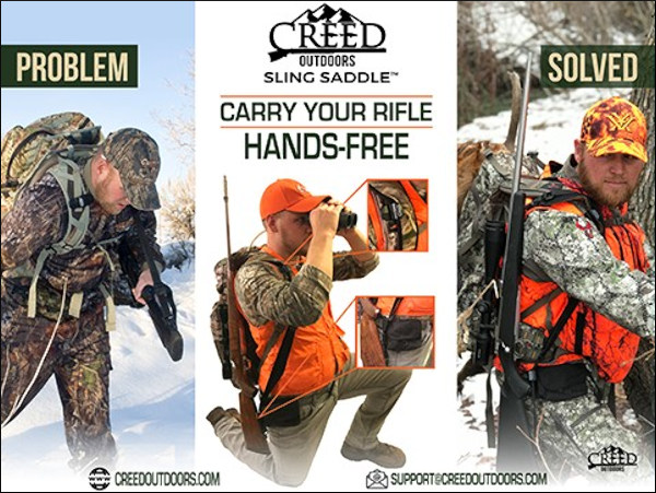 creed outdoors carry sling hunting rifle saddle