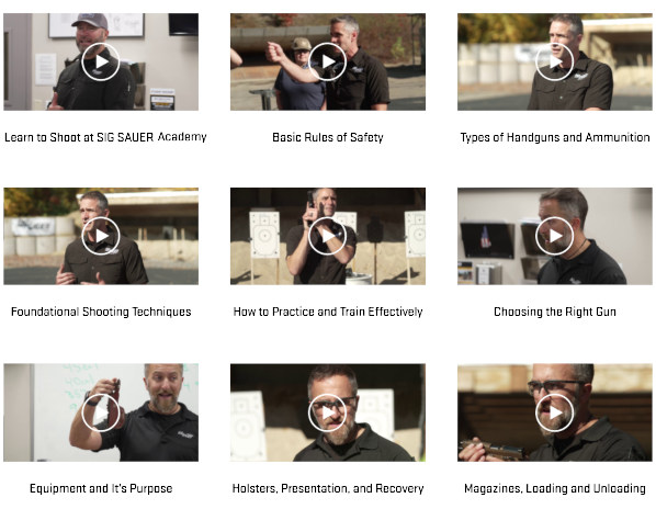 Shooter's Edge handgun training Sig Sauer Academy