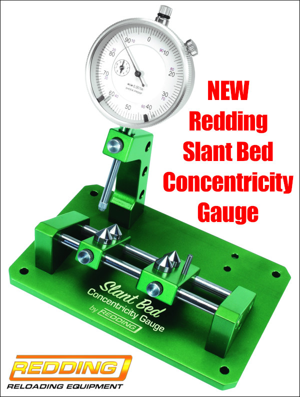 new  Redding Reloading slant bed concentricity gauge