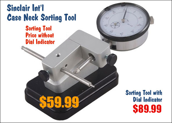 Sinclair Case Neck Sorting tool reloading benchrest neck-turning