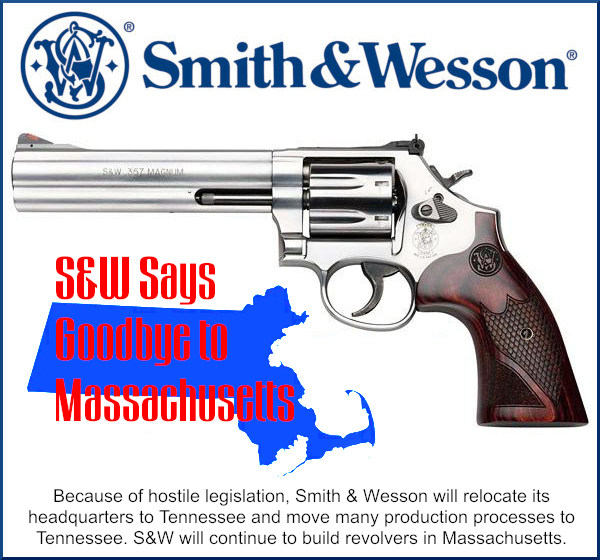 smith wesson massachusetts Tennessee second amendment factory headquarters move