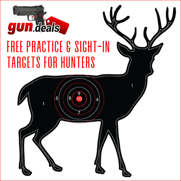 gun.deals deer buck bullseye sight-in target