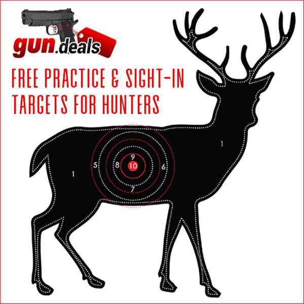 gun.deals deer buck bullseye sight-in target