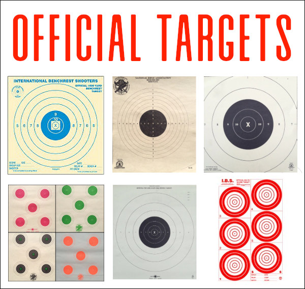 official shooting IBS NBRSA NRA rifle shooting targets paper bullseye benchrest