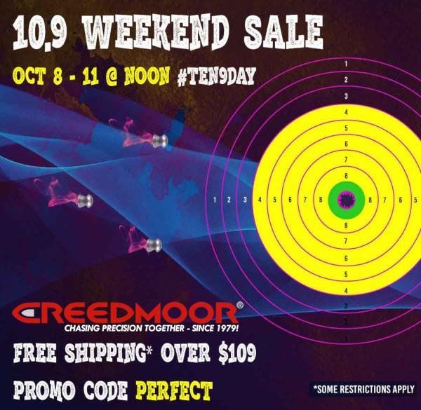Creedmoor sports weekend sale 10.9 free shipping