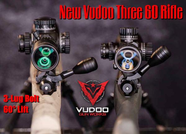 Vudoo gun works three 60 360 .22 LR rimfire action three lug 60 degree bolt