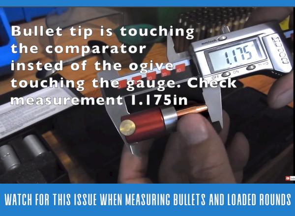 Bullet ogive comparator gauge tool drill fix hybrid ogive bullet