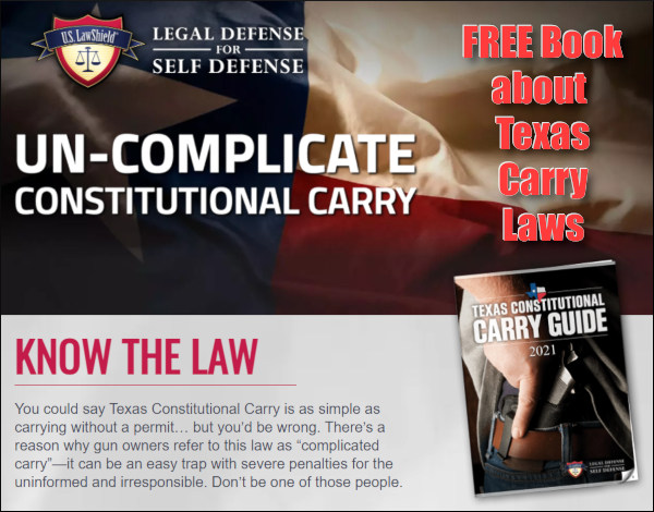 concealed carry handgun Texas constitutional carry law
