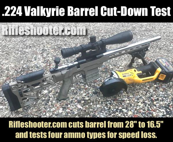 224 .224 Valkyrie barrel cut-down test velocity 90gr Sierra MatchKing Fusion SP TMK
