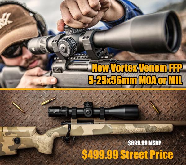 vortex venom FFP 5x25 scope PRS